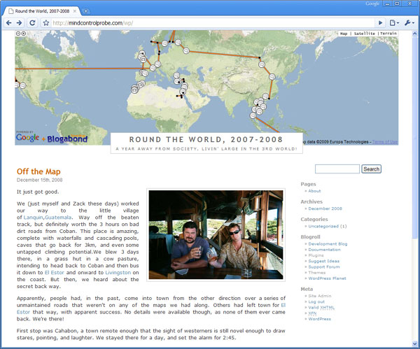 Travel Blog template for Blogger